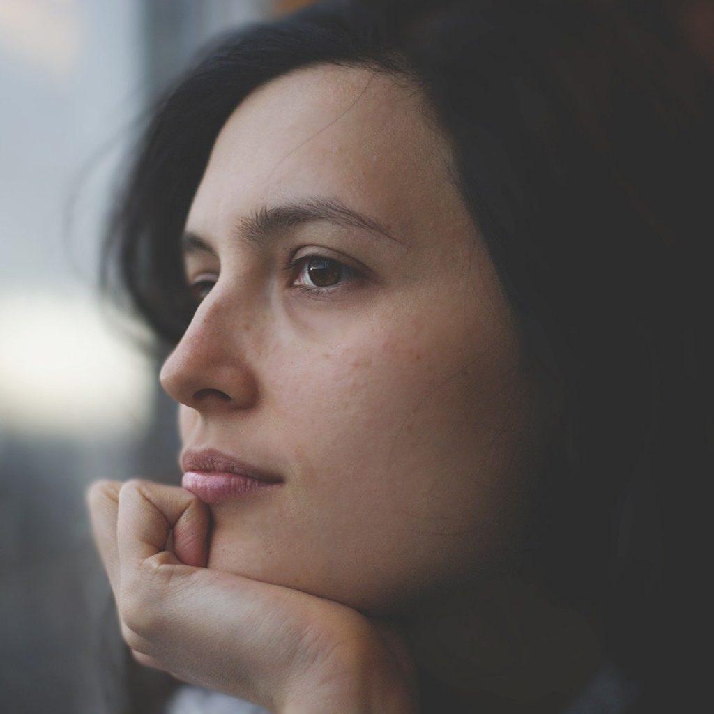 procrastinating woman